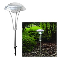 3-LED Solar Power White Outdoor Garden Pathway Landskab Night Light