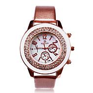 De gepersonaliseerde gift vrouwen witte wijzerplaat roestvrij pu band analoge gegraveerd horloge