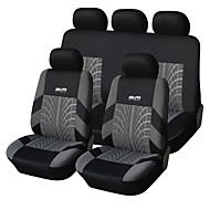 9 PCS Set Car Seat Covers Para Material Poliéster Tecnologia Heat-Embossed Universal Fit