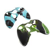 Xbox360과 컨트롤러를위한 2PCS 위장 보호 실리콘 스킨 케이스