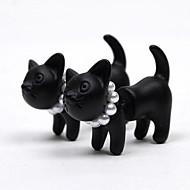 Beszúrós fülbevalók Gyöngy Ötvözet Animal Shape Cica Matt fekete Fekete Ékszerek Mert Napi 1db