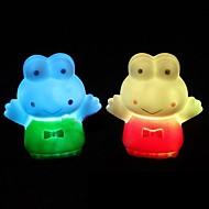 Big Eyes Frog Design Plastic Night Light (Random Color x1pcs)