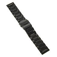22mm hoge kwaliteit zwart / goud precieze roestvrij staal horlogeband