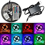 Waterproof 5M 300x5050 SMD RGB LED Strip Flexible Light + RGB 44Key Remote Control + AC Adapter(AC100-240V)