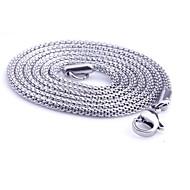 Kjedehalskjeder Titanium Stål Smykker Slange Unikt design Mote Sølv Smykker Daglig Avslappet Julegaver 1 stk