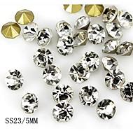 24szt 5mm blask kryształu Rhinestone paznokci dekoracji