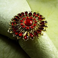 cristal anel de guardanapo girassol, beades acrílico, 4,5 centímetros, conjunto de 12,