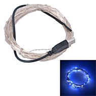 Xinyuanyang® USB  6W 100-0603 SMD Blue White Light LED Strip Lamp - Silver (DC 5V / 1000cm)