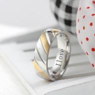 presente personalizado moda jóias em aço inoxidável gravado anel dos homens