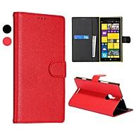 For Nokia etui Pung / Kortholder / Med stativ Etui Heldækkende Etui Helfarve Hårdt Kunstlæder Nokia Nokia Lumia 1520