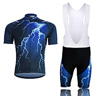 relâmpago rápida absorção de umidade seca manga curta e calças suspender ciclismo dos homens ternos xintown-preto + azul
