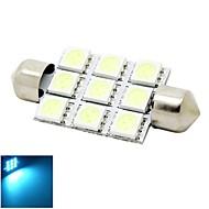 41mm 2W 9x5050 SMD LED 180lm Kristall blaue Lichter Girlande Kuppel Lese Karte Kennzeichenleuchte Glühlampe für Auto (DC 12V)
