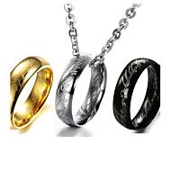magic utsökta verser titan stål män ringen halsband