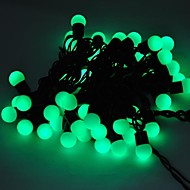 Marsing® Christmas decorative 5M 8W 50-LED Flash Modes Festival Ball Party Green Light Strip - Green (AC110-220V)