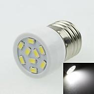 E27 3W 9LED 5730SMD 180-240LM 6000-7500K AC220-240V Spotlight White - White Silver