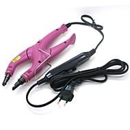 Loof korkeus laatu ammattikäyttöön säädettävällä hiustenpidennykset rauta sulamislämpömäärä rauta vaaleanpunainen (eu plug)