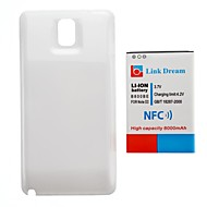 Link Dream   Thickened Cell Phone  Battery with NFC +  White  Back Cover for Samsung Galaxy Note3/N9000/N9005(8000mAh)