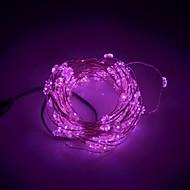 xinyuanyang® snefnug formede 6W 100-0603 SMD LED lyserød lys streng lys - sølv + sort (DC 12V / 1000cm)
