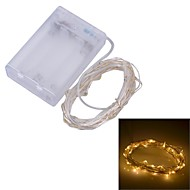 Xinyuanyang® 1.2W 150lm 30-SMD 0603 Warm White Light Flexible LED Strip Battery Case (3 x AA / 3m)
