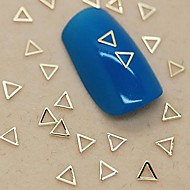 200PCS Hollow Triangle Shape Golden Metal Slice Nail Art Decoration