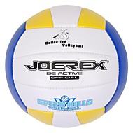 joerex® 5 # machine pvc volley-ball cousu couleurs assorties rouge jaune