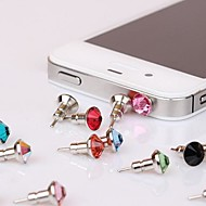 Toophone® JOYLAND 3.5mm Tower Crystal Metal BisonFone and Anti-dust Plug for iPhone and Samsung (Random Color)
