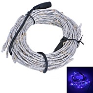Xinyuanyang® Vine Style 10.8W  180x0603 SMD 900lm Purple Light Flexible LED Strip Light - Silver + Black (12V)