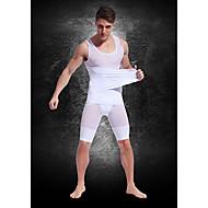 Top Custom Strong Lightweight Breathable Mesh Belt Mens' Abdomen Fat Burning Body Sculpting Clothing White