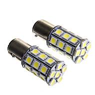 1157 6W 27x5050 SMD White Light Bulb for Car Brake Lamp (DC12V 2pcs)