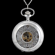 Vintage Large Circular-Shaped Classical Pattern Metal Clamshell Mechanical Pocket Watch Necklace Watch (1Pc) Cool Watch Unique Watch