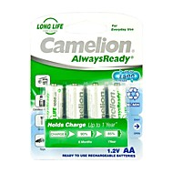 Camelion AlwaysReady 1000mAh Low Self-discharge Ni-MH AA Rechargeable Battery (4pcs)