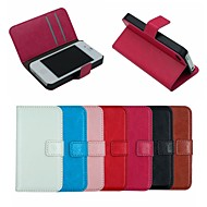 Crazy Horse Leather Wallet Full Body Case Flip Leather Stand Cover with Card Holder for iPhone 4/4S (Assorted Colors)