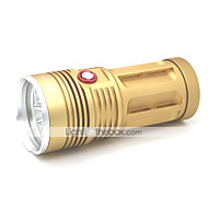 LT-FL1122 Super High Power 3 Modes 6xCree XML T6 Searching Led Flashlight(5000LM.4x18650.Golden)