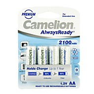 Camelion AlwaysReady 2100mAh Low Self-discharge Ni-MH AA Rechargeable Battery (4pcs)