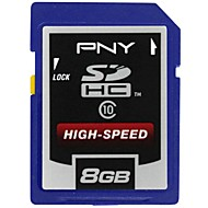 Tarjeta de memoria SDHC clase profesional 8gb pny 10 de alta velocidad (color al azar)