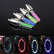 Luces para bicicleta / Luces Tiltilantes para Tapas de Válvulas Ciclismo A Prueba de Agua / alarma pila de botón / AG10 Lumens Batería