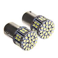 1157 6W 50x1210 SMD luz branca levou lâmpada para lâmpada de freio do carro (12V 2pcs)