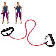 rød tube elastisk streng sliming fitness yoga motstand band fitness