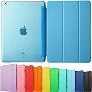DSB® Ultra Slim Tri-Fold PU Leather with Crystal Hard Back Smart Stand Case Cover for iPad Air