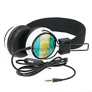 אוזניות wzs- ארגונומי Hi-Fi סטריאו עם מיקרופון מיקרופון -argentina דגל - שחורה