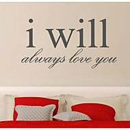 amore citazione decalcomania della parete autoadesivo della parete jiubai ™, 85 centimetri * 44 centimetri