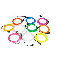 1.6 Meter Flexible Neon Light Glow Decorative 2.3mm Diameter EL Wire with 2AA Battery Pack
