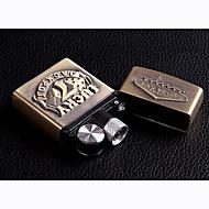 USB électronique rechargeable briquets d'or métallique jouets de l'épreuve du vent (motif Las Vegas)