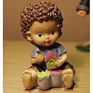 søt europeisk dukke med store øyne og sjokolade krøller for tabell dekorasjon harpiks leker