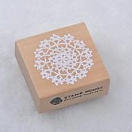 5cm x 5cm kvadrat romantisk blomst mønster tre frimerker