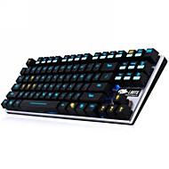 Dare-u Ergonomic Design 2LED Colors Luminous Ultra-silence 87 Keys The Mechanic USB Wired Gaming Keyboard - Black
