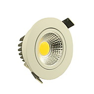 5W LED Ceiling Lights Recessed Retrofit 1 COB 500-550 lm Warm White / Cool White Dimmable AC 220-240 V
