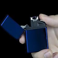 designd genopladelige usb lightere med blå LED lys