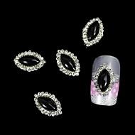 10db fekete marquise diy ötvözet tartozékok nail art dekoráció