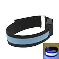 LED Light Arm Band Strap Armband Blue  (2xCR2032)